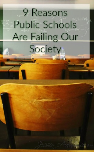 9 Reasons Public Schools Are Failing Our Society. Such a great article. The public school system is really going down hill and these reasons really sum it up. This gives a great perspective on the issues. But I wish it weren't true.