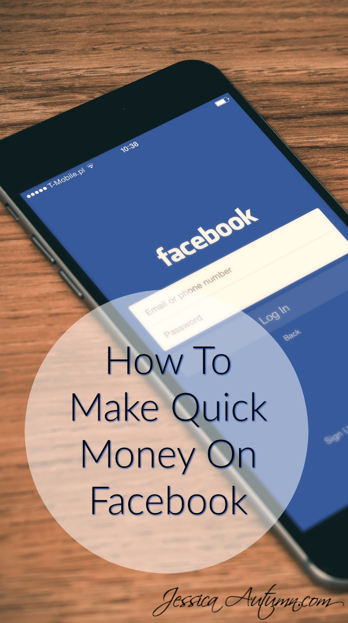 How To Make Quick Money On Facebook. This is so cool! I had never heard about Facebook yard sale pages before. Having an actual yard sale takes so much work. It will be nice making some extra cash from my old stuff instead of just giving it away. THIS IS WHY I LOVE PINTEREST!!!