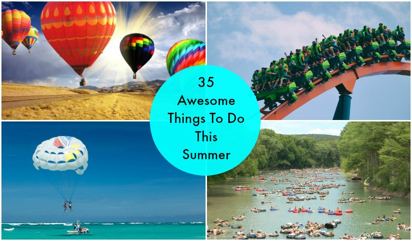 35 Awesome Things To Do This Summer. Such an amazing list! I honestly would have never thought of some of these things. Pinterest has all the best stuff!