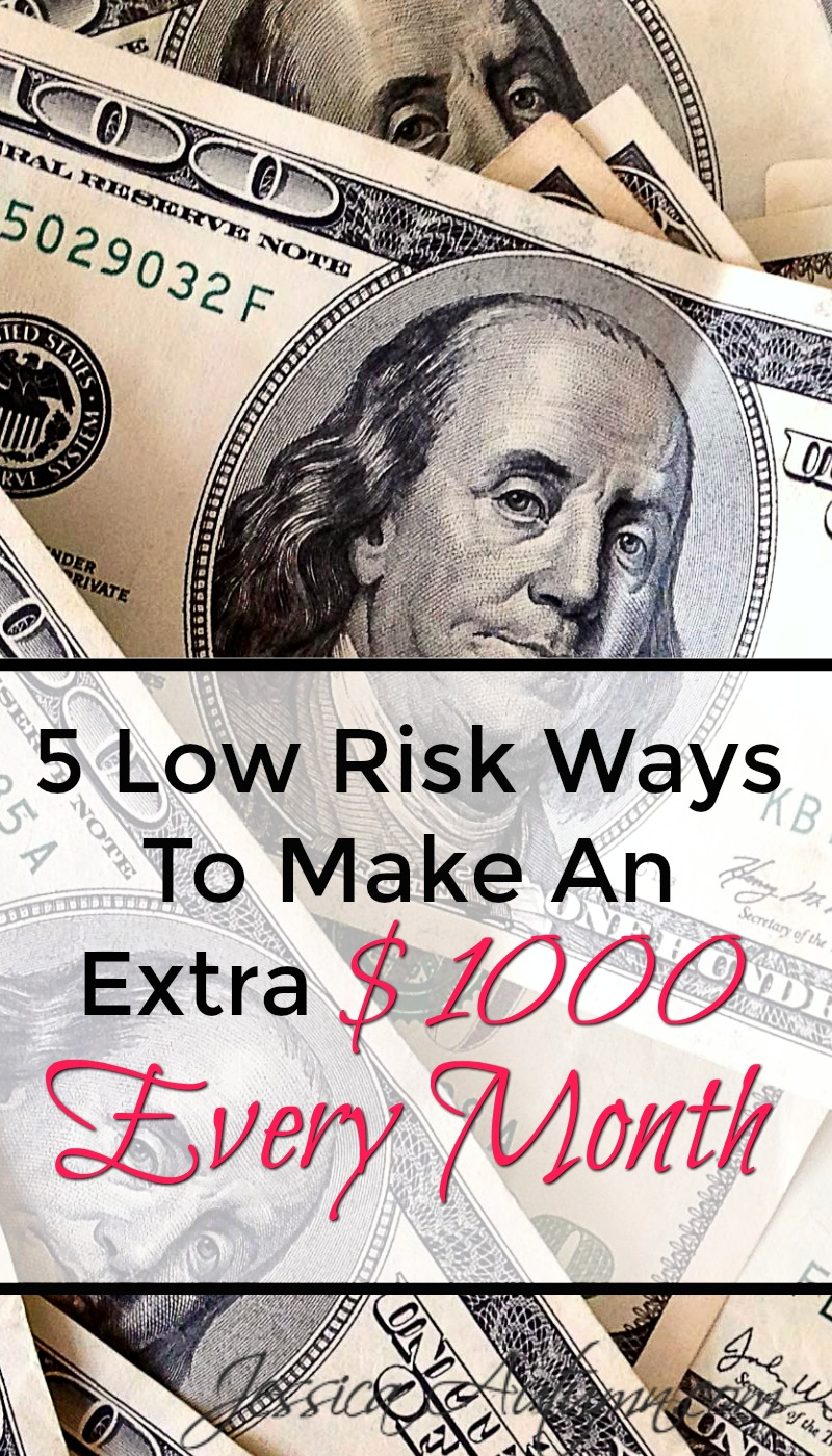 5 Low Risk Ways To Make An Extra $1000 Every Month. Great list! I loved how this article includes a mix of online and offline ways to make extra money. Every body needs a side hustle or two!