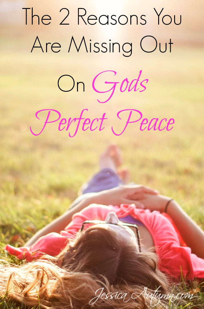 The 2 Reasons You Are Missing Out On Gods Perfect Peace. I've never heard this before! It's easy to get depressed wondering why God doesn't just give us peace. Such a great perspective. Glad I read this!