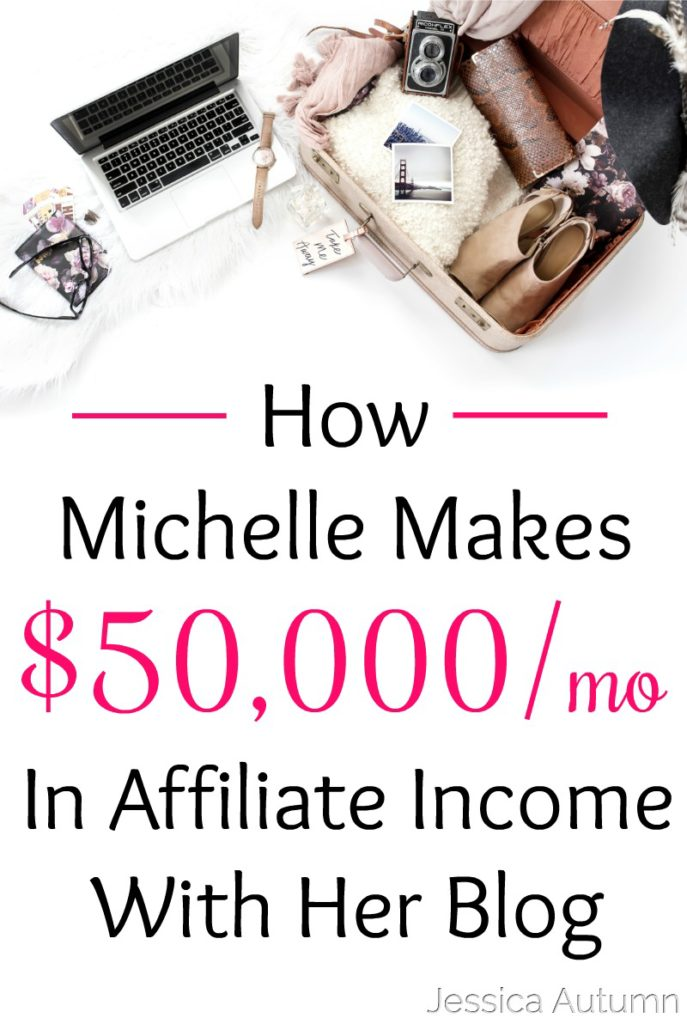 How Michelle Makes $50,000 A Month in Affiliate Income With Her Blog. I've been blogging for quite a while now and always felt like affiliate marketing was a waste of time. I never knew it was possible to make this much money with affiliates! Great interview!
