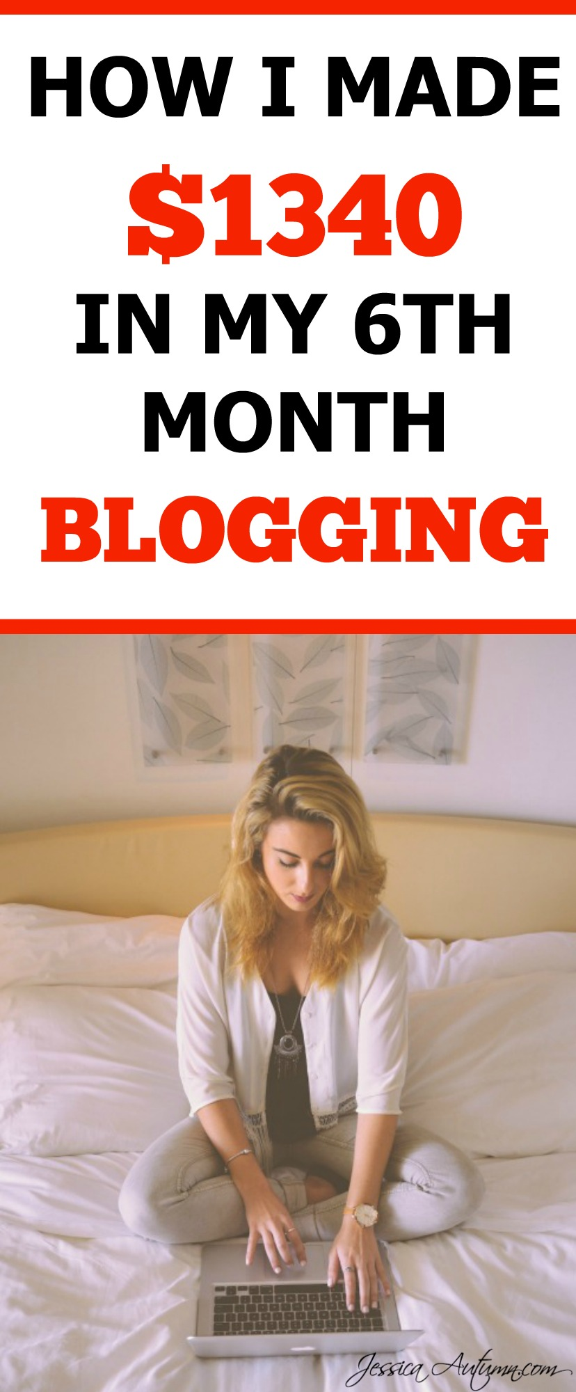 How I Made $1340 In My 6th Month Blogging. Find out how many pageviews I got this month and how much money I made. Making money online is more than possible. Lots of great advice for new and aspiring bloggers to get more pageviews and start making money.