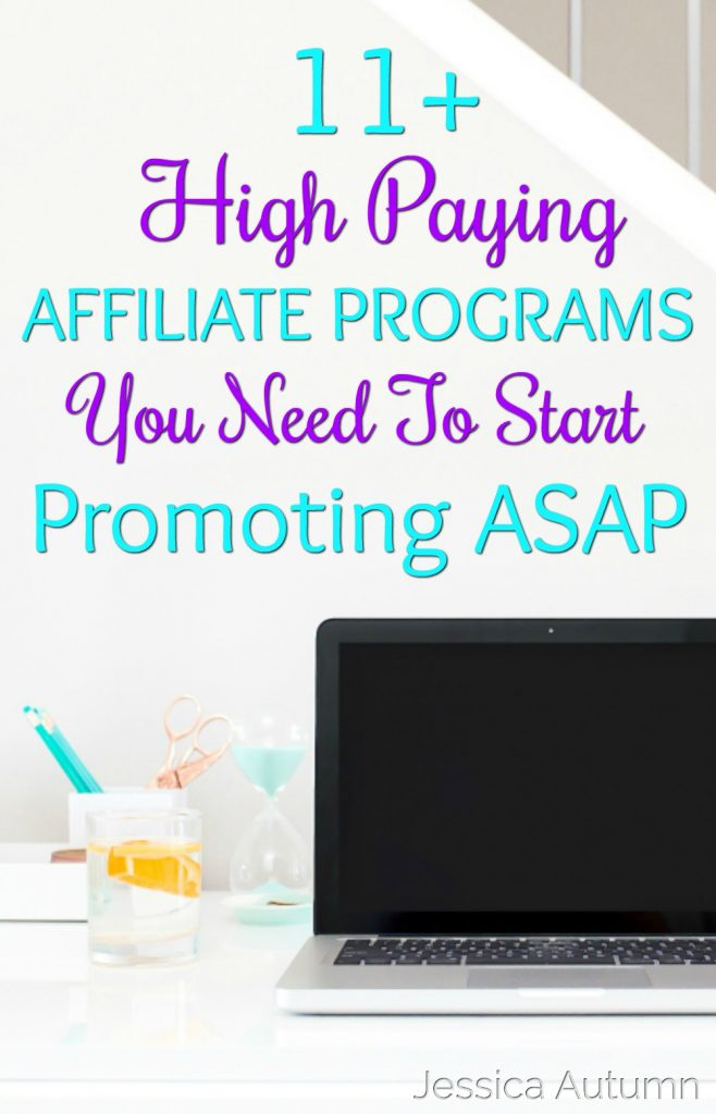 11+ High Paying Affiliate Programs You Need To Start Promoting ASAP. I never knew I could have been promoting these companies before I started my blog! I've been blogging for a while now and just got introduced to the power of affiliate marketing. Thanks for sharing these programs! It's crazy that some people are making $12,000 a month just from one program!