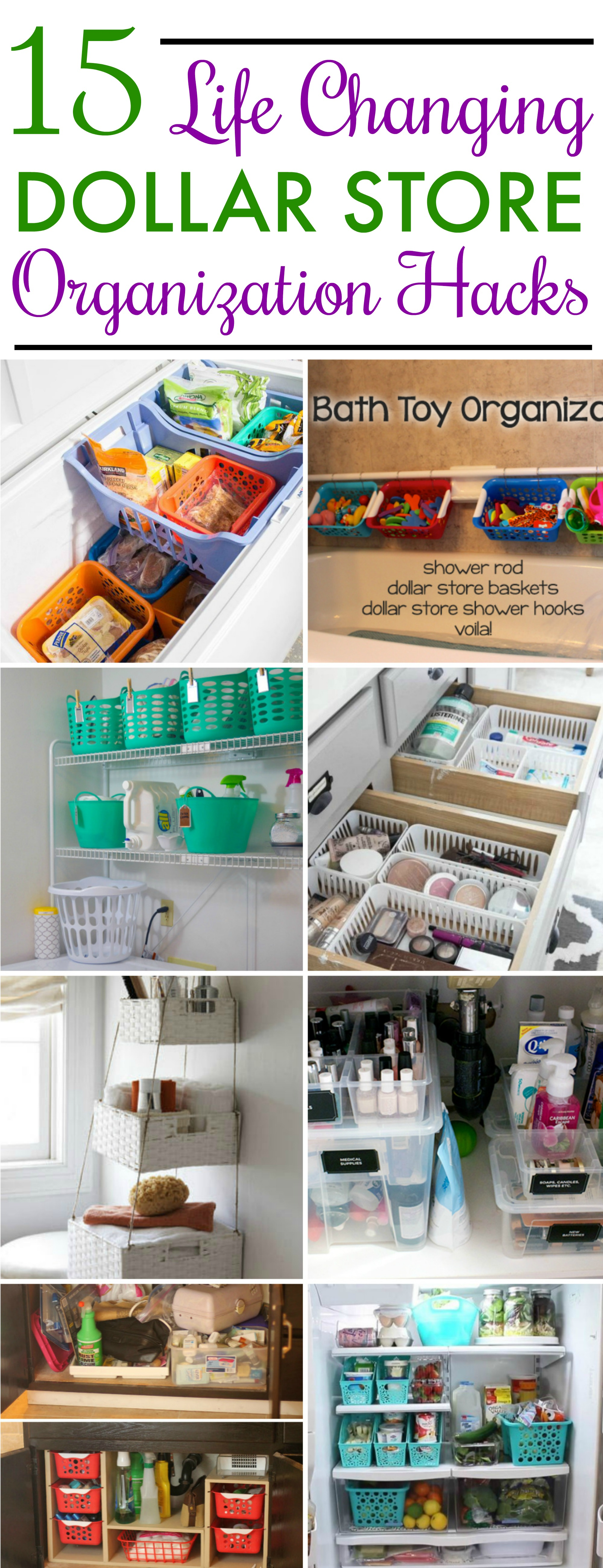 15 Dollar Store Organization Ideas For Every Area In Your Home