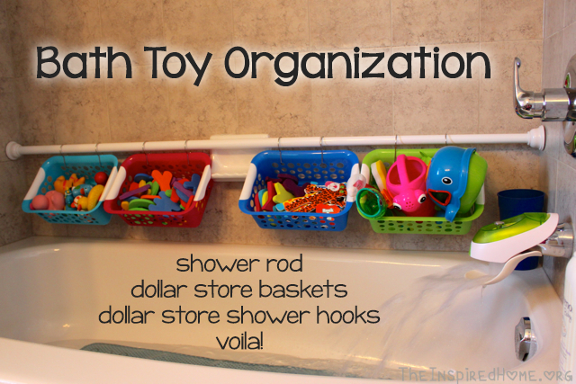 Bath Toy Organization Idea