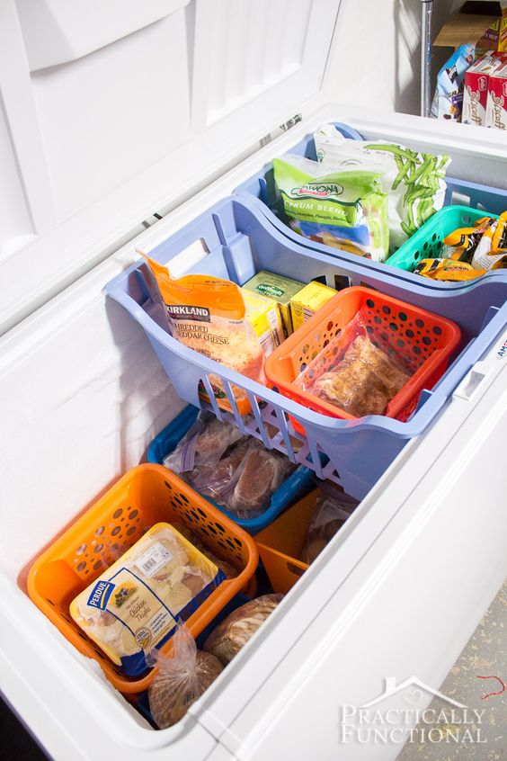 Deep freezer organization hack