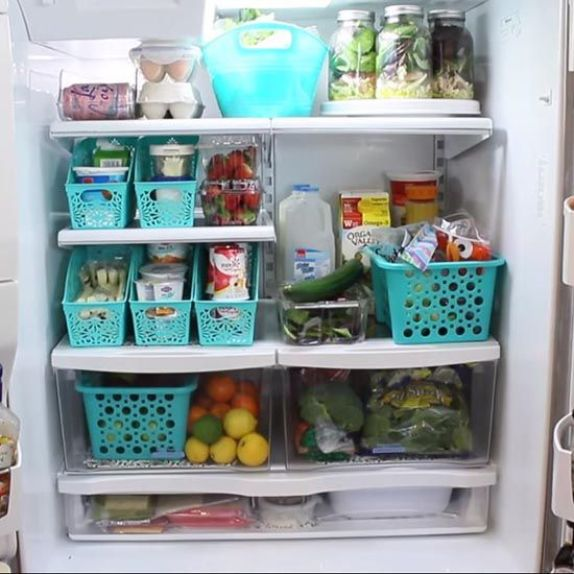 fridge organization makeover