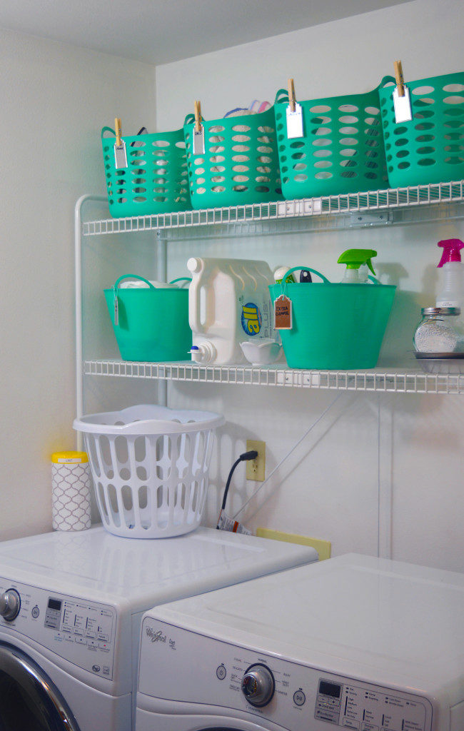 laundry room organization makeover