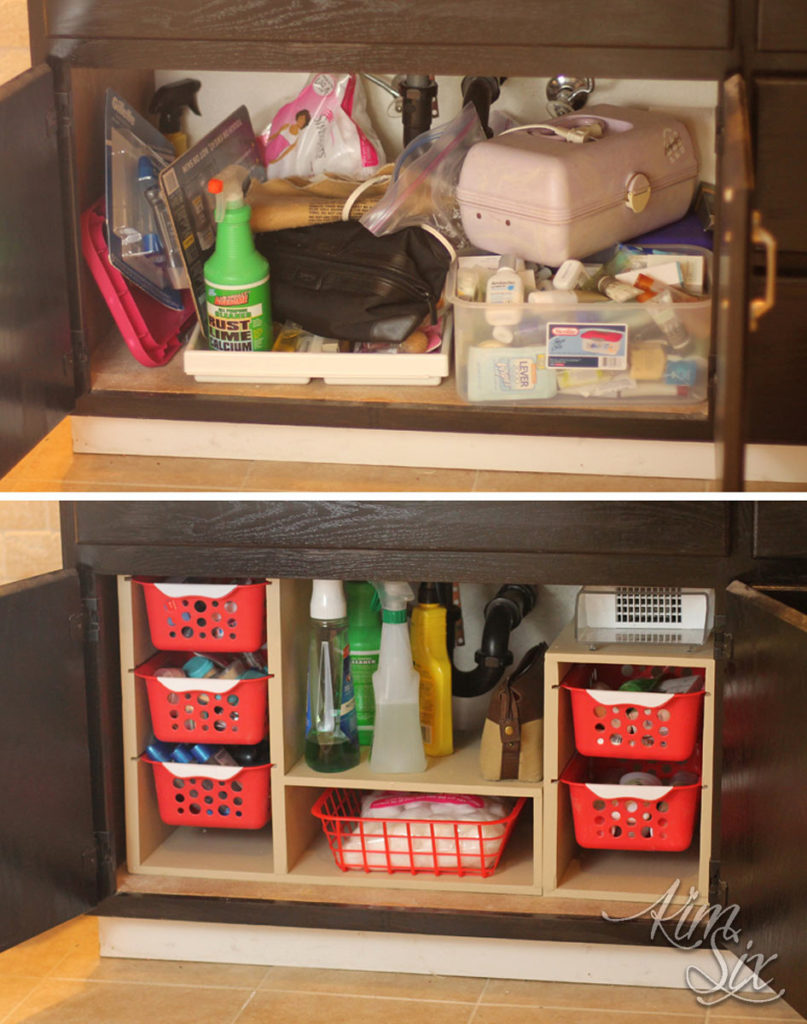 Under kitchen sink organization transformation