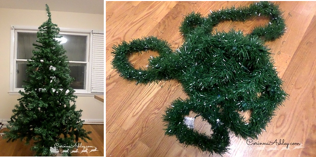 Use Green Tinsel To Make Your Christmas Tree Look Fuller
