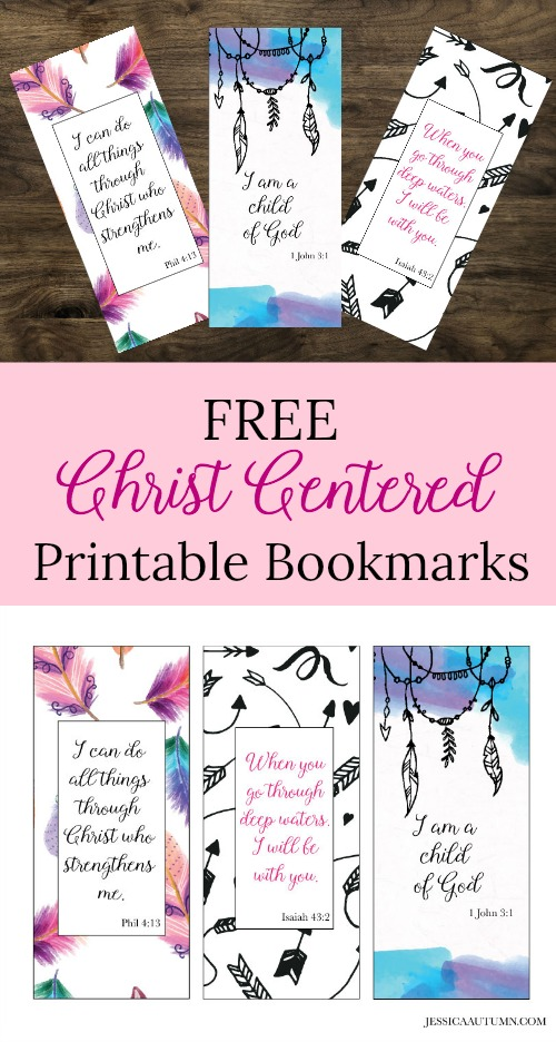 image relating to Who I Am in Christ Printable Bookmark identified as Feather And Arrow Christ Primarily based Bookmarks - Jessica Autumn