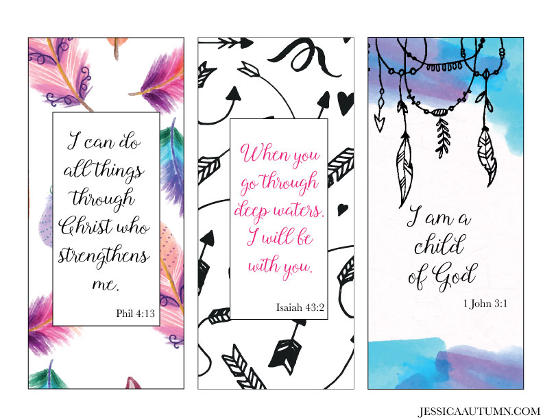photo about Who I Am in Christ Printable Bookmark identify Feather And Arrow Christ Based mostly Bookmarks - Jessica Autumn