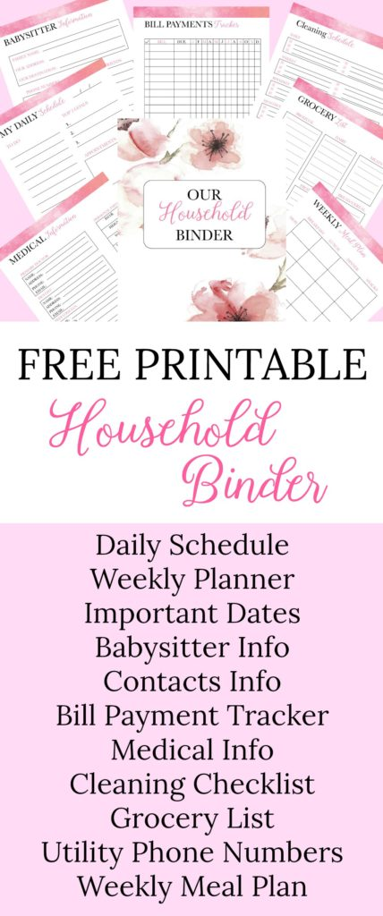 picture about Free Printable Household Binder referred to as Red Flower Relatives Binder Absolutely free Printables - Jessica Autumn