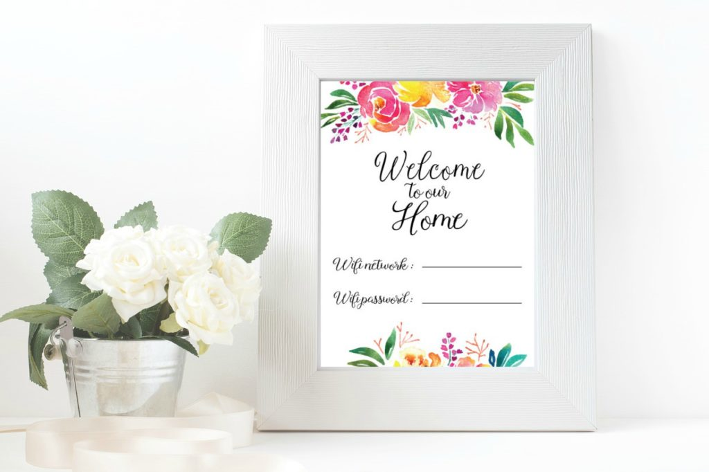 picture regarding Printable Wifi Sign called Welcome Wifi Pword Totally free Printable - Jessica Autumn